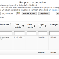 Rappord d'occupation